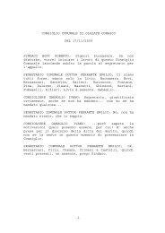 Verbale seduta del 17 novembre 2009 formato: pdf - Comune di ...