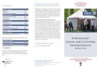 Ethnologie/ Social and Cultural Anthropology - Universität Tübingen