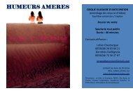 HUMEURS AMERES - Les Amis de Christine