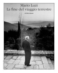 Mario Luzi La fine del viaggio terrestre - Poesia
