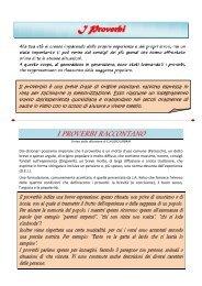 I Proverbi - Benvenuti nel sito dei ragazzi della Scuola Media!