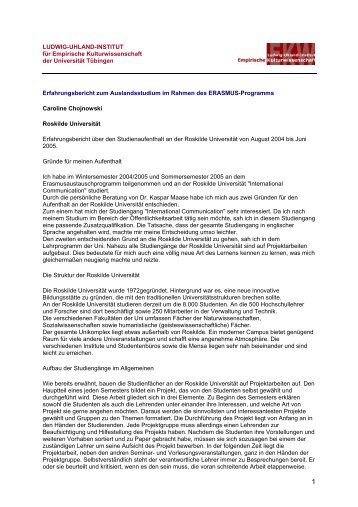 LUDWIG-UHLAND-INSTITUT für Empirische Kulturwissenschaft der ...