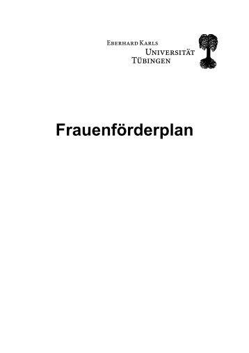 Frauenförderplan - Universität Tübingen