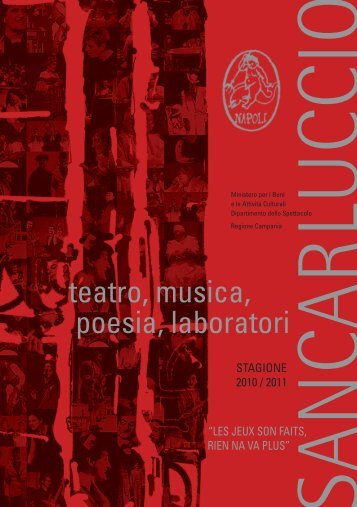 teatro, musica, poesia, laboratori - Teatro Sancarluccio
