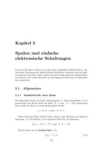 Kapitel 5 Spulen und einfache elektronische Schaltungen