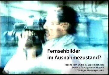 Fernsehbilder im Ausnahmezustand? - Universität Tübingen