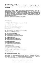 Inhaltsverzeichnis Amtliche Mitt. - Universität Tübingen