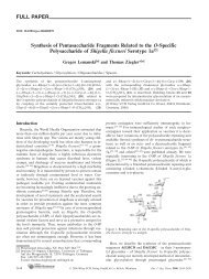 FULL PAPER Synthesis of Pentasaccharide Fragments Related to ...