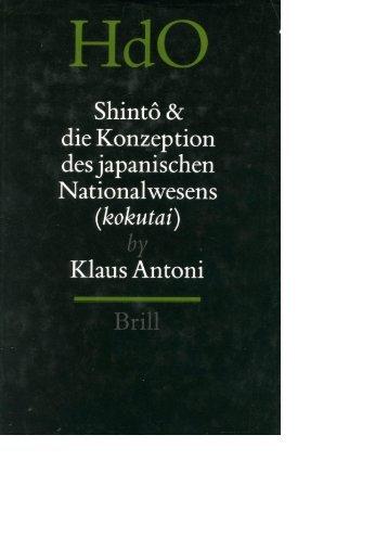 Shintô und die Konzeption des japanischen Nationalwesens