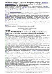 ORDIN nr. 5559 din 7 octombrie 2011 pentru aprobarea Normelor ...
