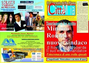 CittàMia n° 12 - Giugno-2- 2007 - Corel 13 - Il Giornale della Piana ...
