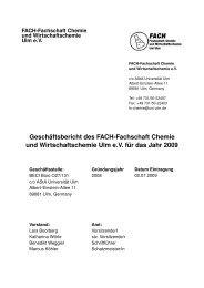 Gesch¨aftsbericht des FACH-Fachschaft Chemie ... - Universität Ulm
