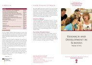 Research and Development in Schools