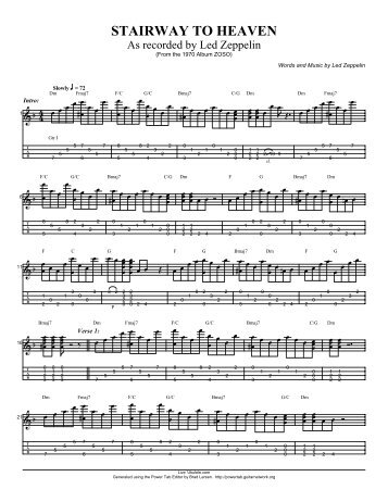 Stairway To Heaven Ukulele Tab Intro Photos Freezer And Stair