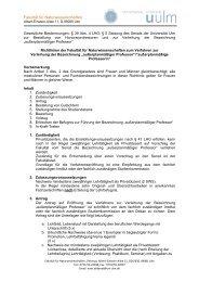 Richtlinien der Fakultät für Naturwissenschaften ... - Universität Ulm