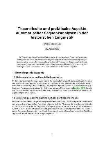 Theoretische und praktische Aspekte automatischer ...