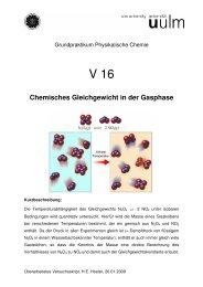 Chemisches Gleichgewicht in der Gasphase