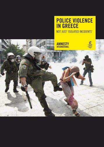 Police violence in Greece - Amnesty International