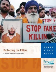 Protecting the Killers - Human Rights Watch