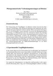 Photogrammetrische Brückenmessung - Bauhaus-Universität Weimar