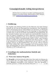 Genauigkeitsma‰e richtig interpretieren - Bauhaus-Universität ...