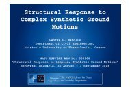 Structural Response to Complex Synthetic Ground Motions