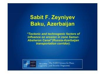 Sabit F. Zeyniyev Baku, Azerbaijan