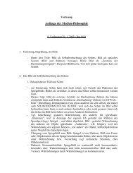 Anfänge der Medien-Philosophie - Bauhaus-Universität Weimar