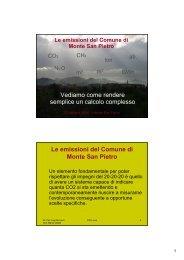Le emissioni del Comune di Monte San Pietro - Centro CISA