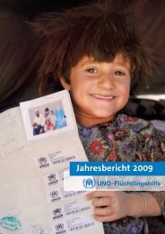 Jahresbericht 2009 - UNO-Flüchtlingshilfe