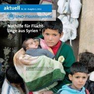 linge aus Syrien aktuell Nr. 59 - UNO-Flüchtlingshilfe