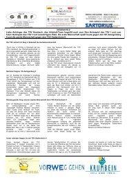 Infoblatt Nr.2 Liebe Anhänger des TSV Hambach, das Infoblatt ...