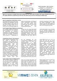 Infoblatt Nr.13 - TSV Hambach