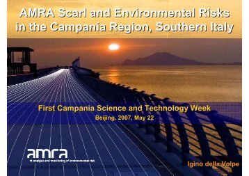 AMRA Scarl and Environmental Risks in the Campania Region ...