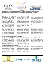 Infoblatt Nr 14 - TSV Hambach