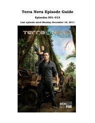 Terra Nova Episode Guide - INAF/IASF-Bo