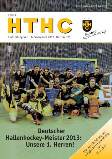 Deutscher Hallenhockey-Meister 2013 - Harvestehuder Tennis- und ...