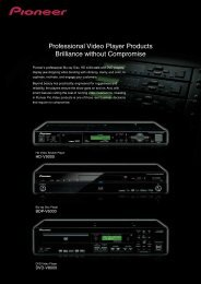 Professional Video Player Products Brilliance ... - Más que audio