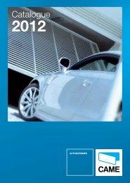Catalogue Came 2012 en .pdf - Motorisation Plus