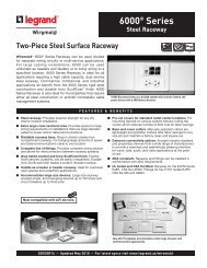 6000 Series Raceway Product Specification - by Legrand