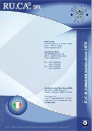 Brochure nuova RUCA 2012 INGLESE - Rucasrl.com - RU.CA. Srl