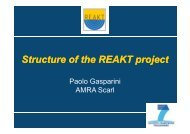 Structure of the REAKT project - Strategies and tools for Real Time ...