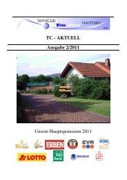 Ausgabe August 2011 - Tennisclub Blau-Weiß Horchheim e. V.
