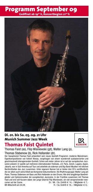Thomas Faist Quintet - Unterfahrt München