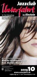 Makiko Hirabayashi Trio feat. Marilyn Mazur - Jazzclub Unterfahrt