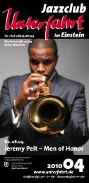 Jeremy Pelt – Men of Honor - Jazzclub Unterfahrt