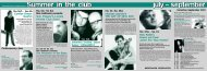 Summer in the club july – september - Jazzclub Unterfahrt