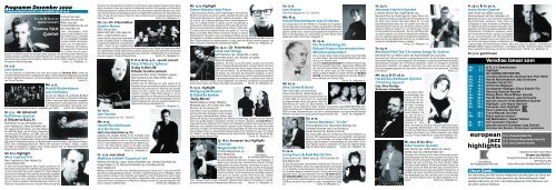 european jazz highlights - Jazzclub Unterfahrt