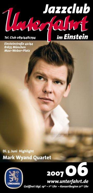 Mark Wyand Quartet - Unterfahrt