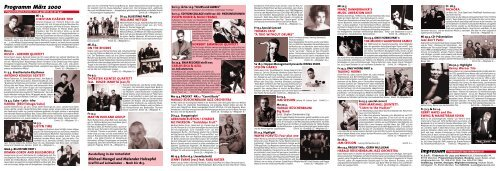 Programm März 2000 - Jazzclub Unterfahrt